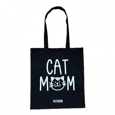Tote Bag Preto | Cat Mom