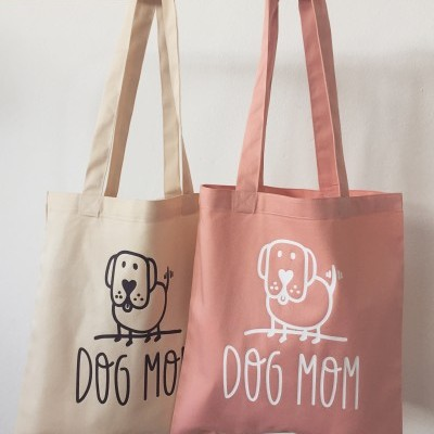 Tote Bag Bege | Dog Mom