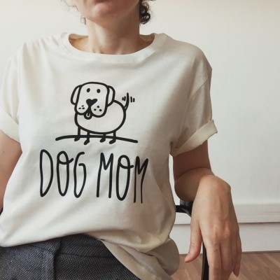 T-Shirt Bege | Dog Mom