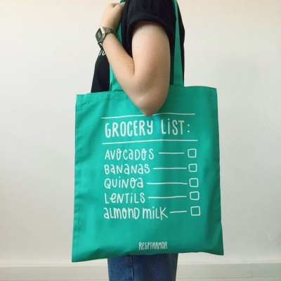 Tote Bag Verde C | Grocery List