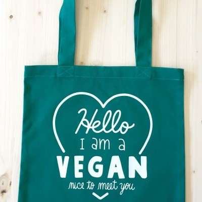 Tote Bag Verde | Hello, I'm a Vegan