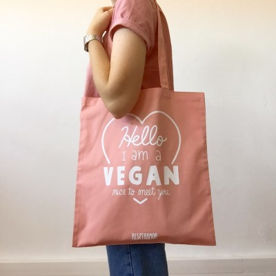 Tote Bag Rosa | Hello I'm a Vegan
