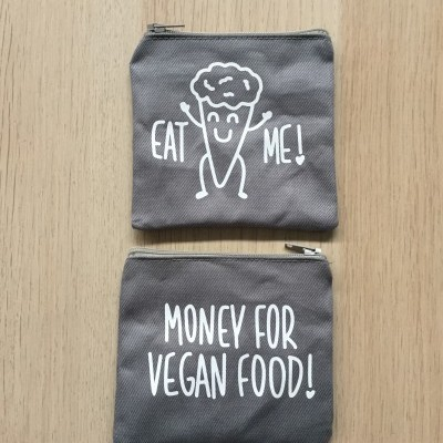 Porta-moedas Cinza | Money For Vegan Food
