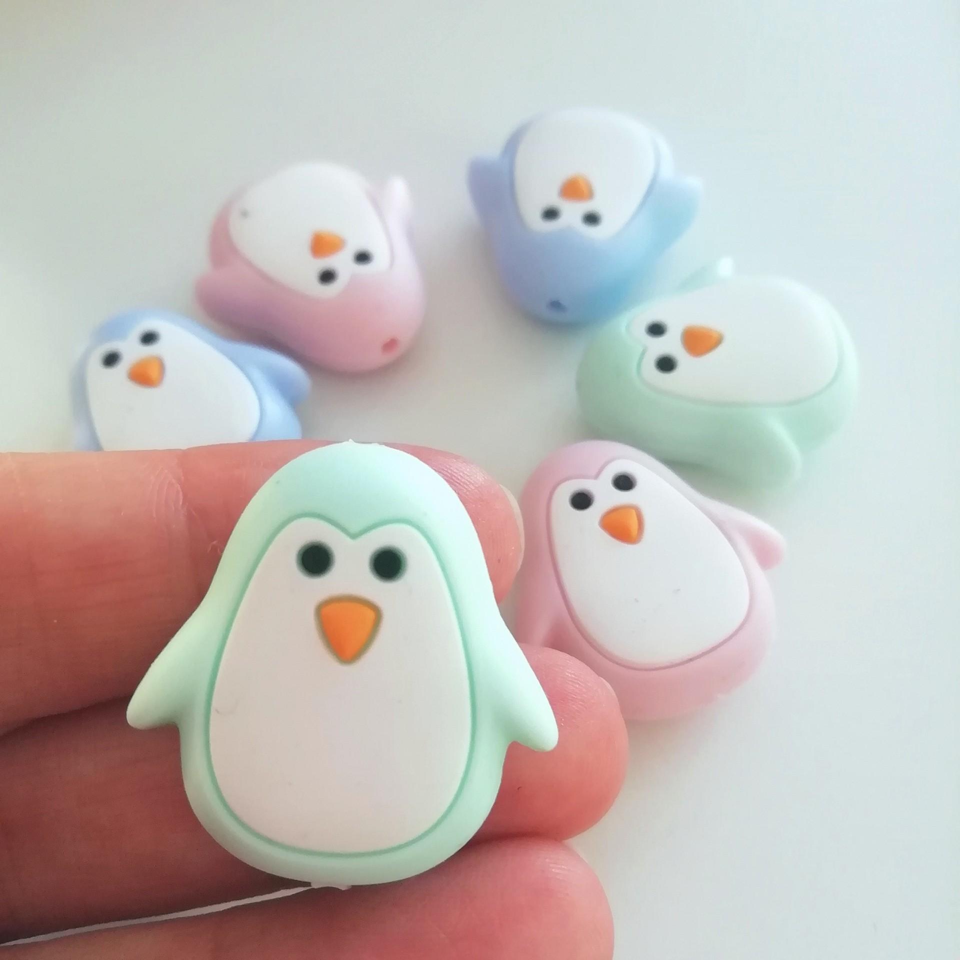 Contas Pinguim (silicone)