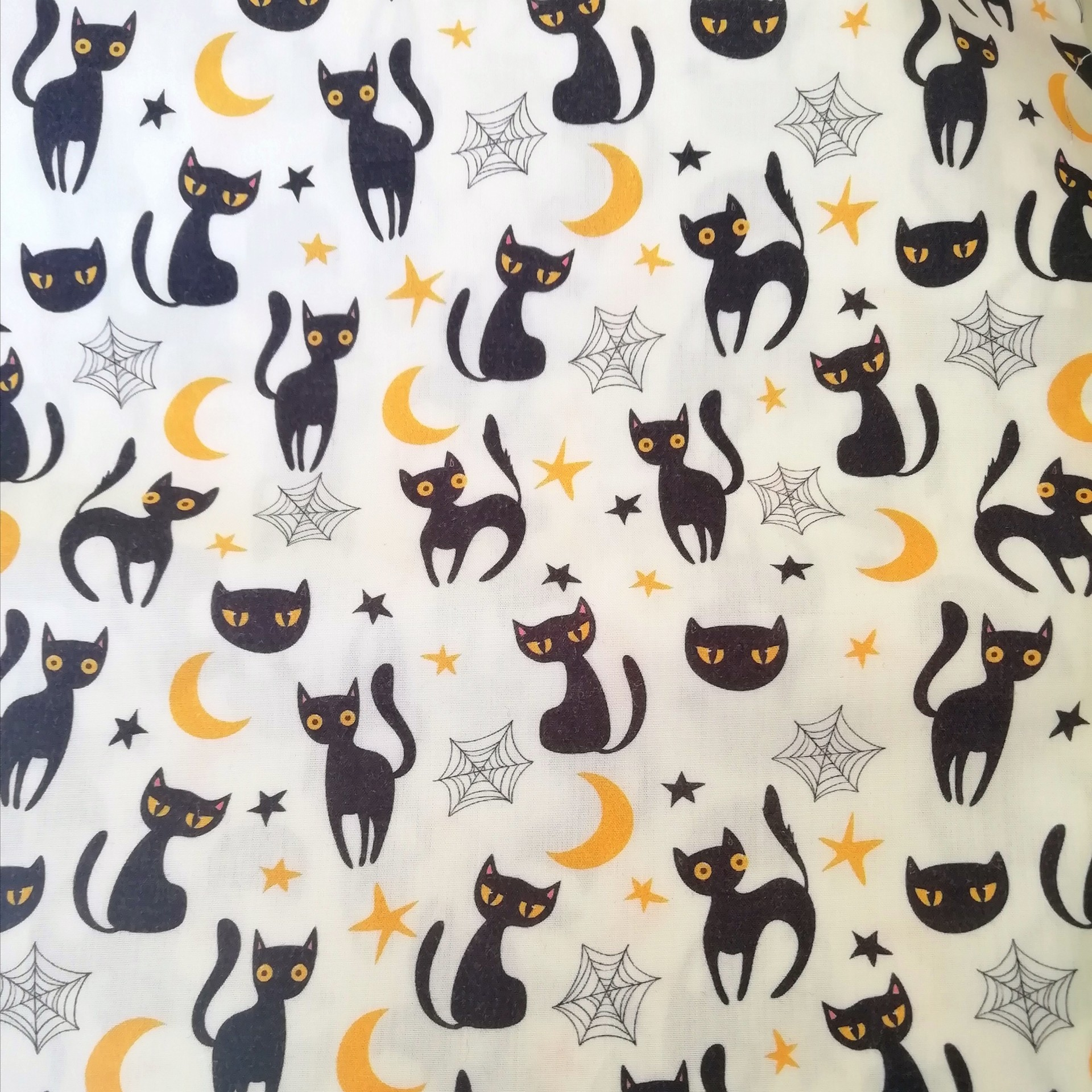 Tecido Halloween Cats