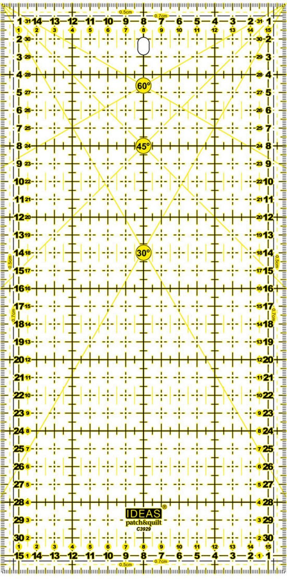 Régua patchwork 15x30