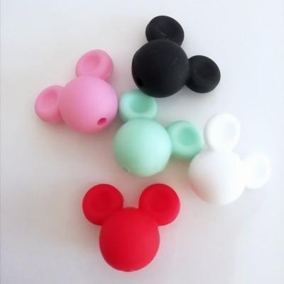 Contas Mickey (silicone)