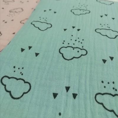 Musselina com nuvens