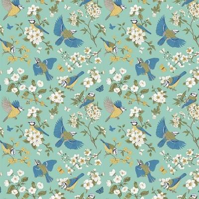 Tecido Fabricart - Blue birds