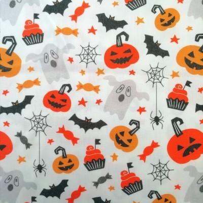 Tecido Halloween Boo!