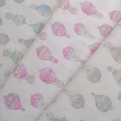 Tecido Balões Ar Quente rosa