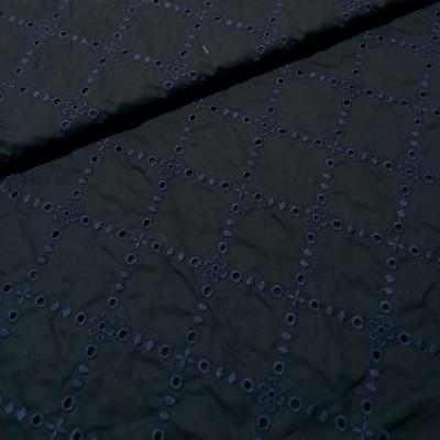 Cambraia Bordado Inglês azul escuro
