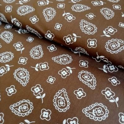 Tecido Fabricart - Cornucópias brown