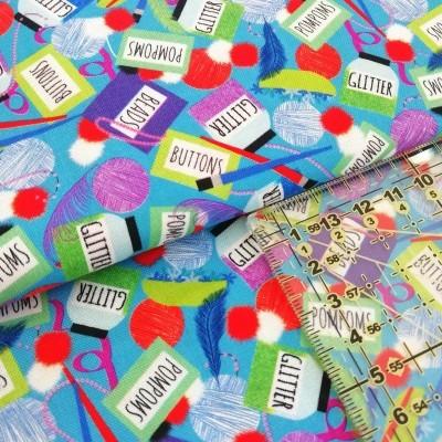Tecido Glitter&Pompom