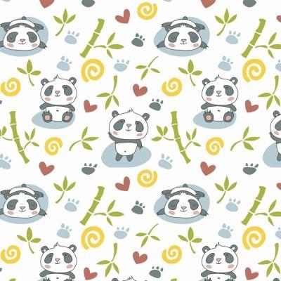 Tecido Fabricart - Pandas com bambu