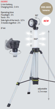 Lâmpada ambiente de 360 ° no tripé 1600L