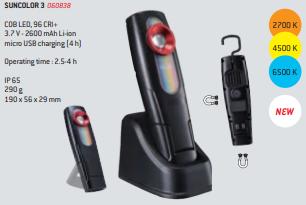 Lâmpada LED portátil SUNCOLOR 3