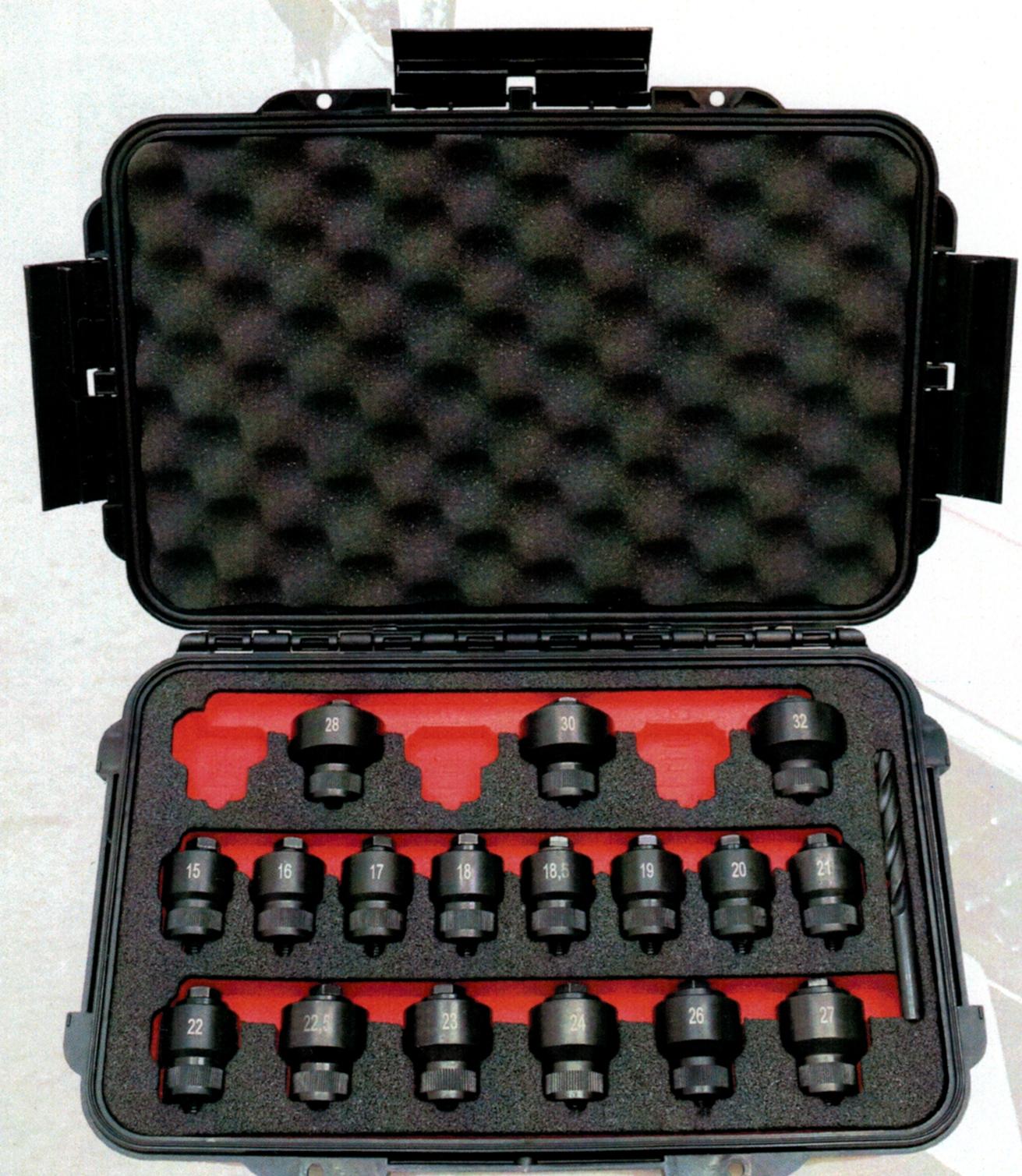 Kits de abertura de furos para encaixe de sensores