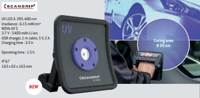 Lâmpada de secagem SCANGRIP NOVA-UV S