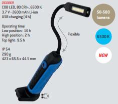 Lâmpada de inspeção flexível 500L