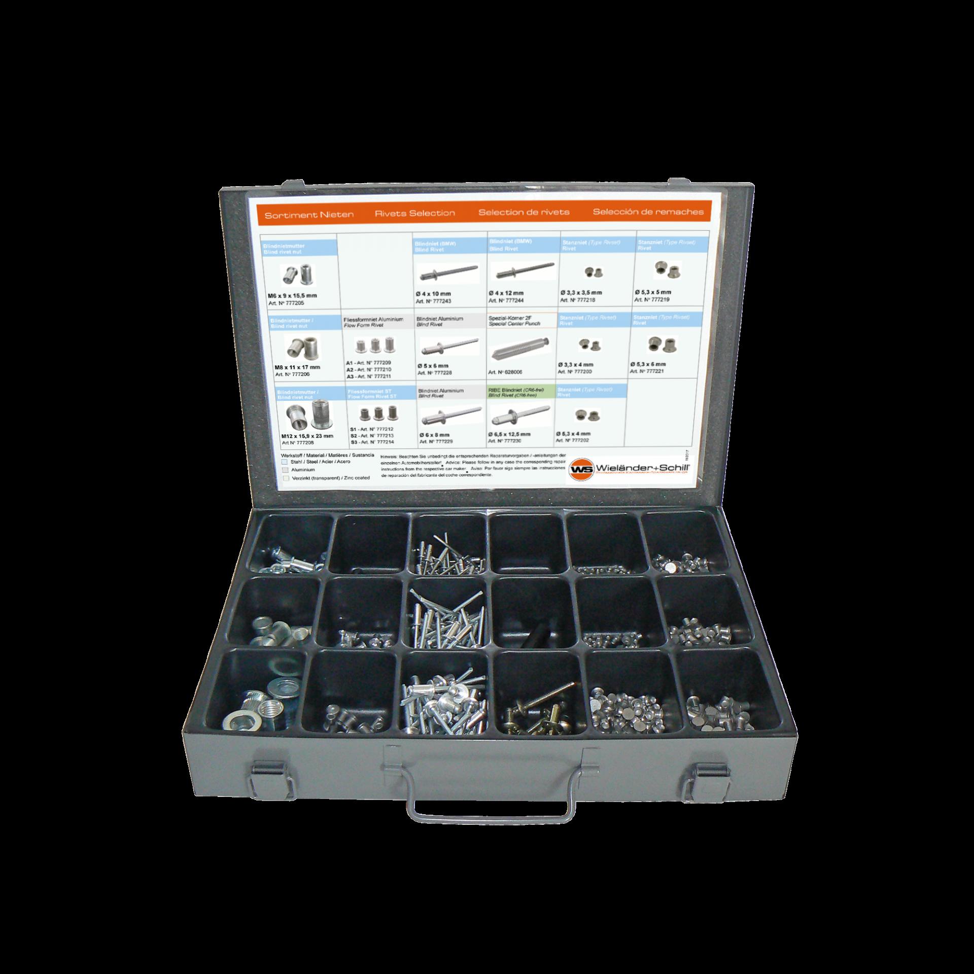 RivBox N ° 1 - Caixa de sortimento de rebites universais