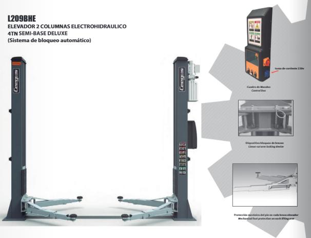 Elevador de colunas electro-hidráulicos.  Diversos modelos