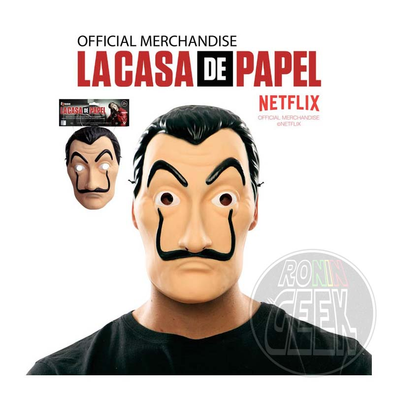 La Casa de Papel - Máscara PVC Salvador Dali