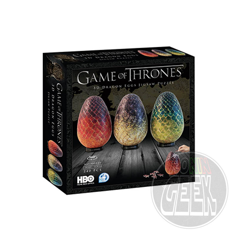 4D CITYSCAPE Game of Thrones 3D Puzzle Dragon Eggs (240 peças)