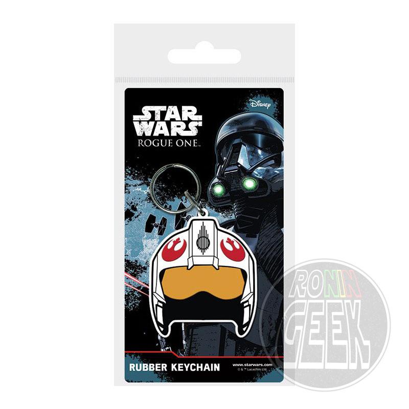 Star Wars Rogue One Rubber Keychain Rebel Helmet