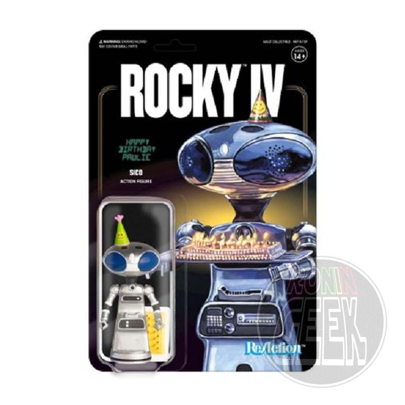 SUPER 7 ReAction Rocky 4 Action Figure - Sico Paulie's Robot