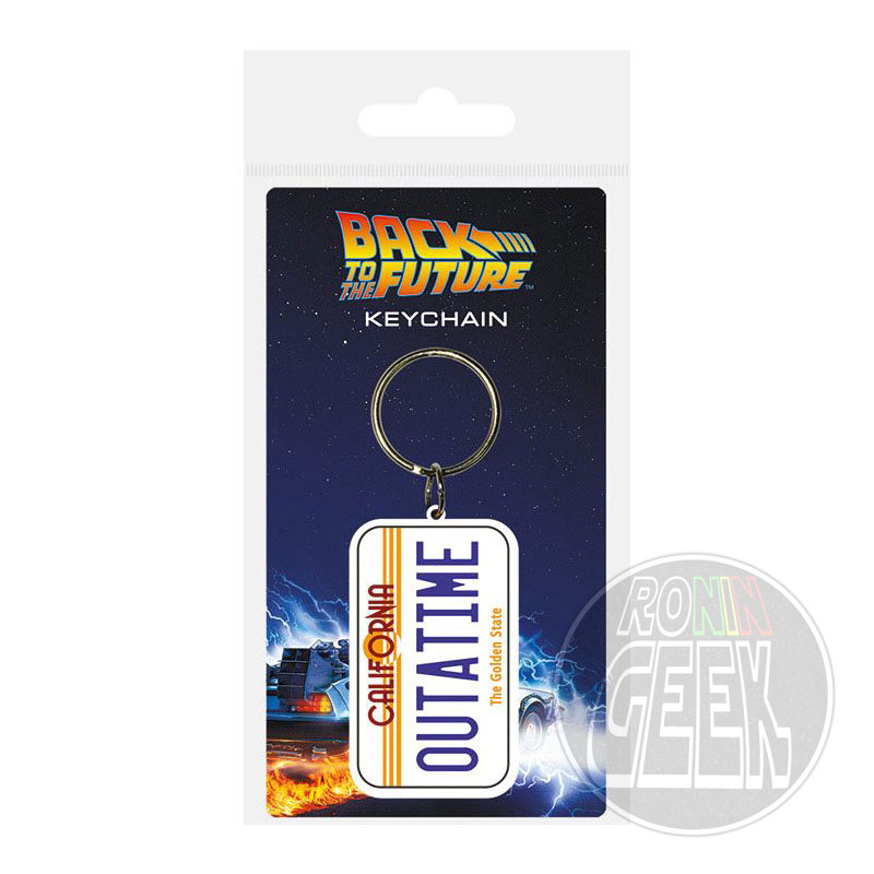 Back to the Future Rubber Keychain License Plate