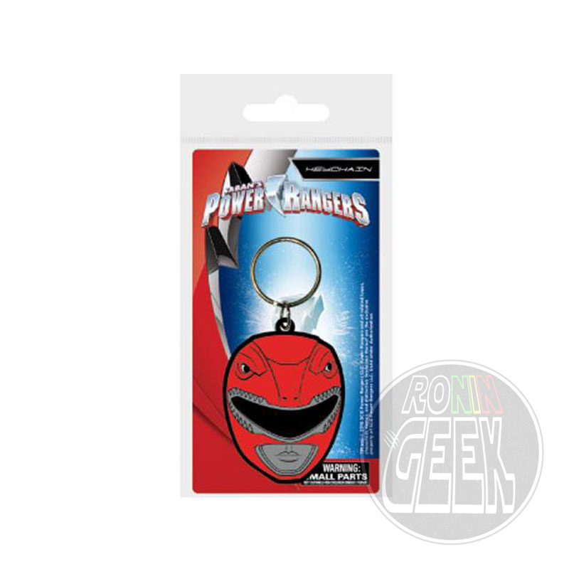 Power Rangers Rubber Keychain Red Ranger Helmet