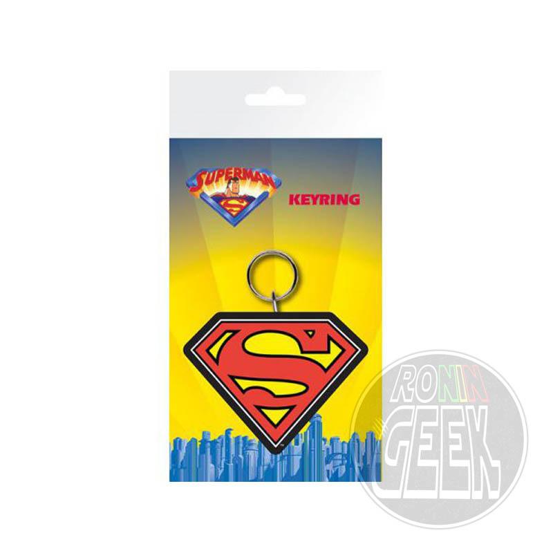 DC Comics Superman Logo rubber keychain