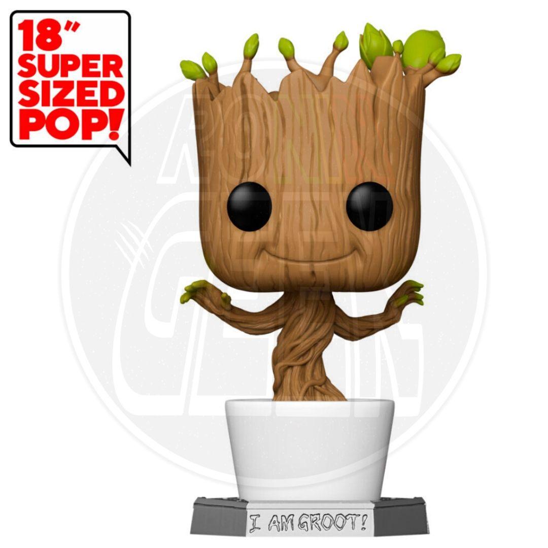 PRÉ-VENDA FUNKO SUPER SIZED POP! Marvel: Guardians of the Galaxy - Dancing Groot (45cm)