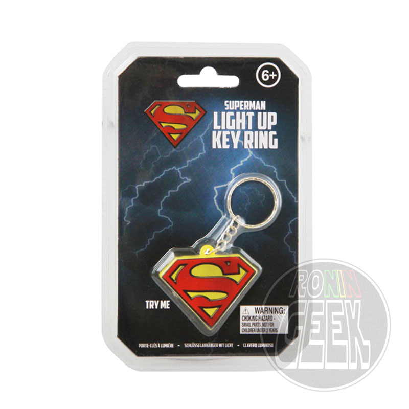 DC Comics Light-Up Keychain Superman Logo