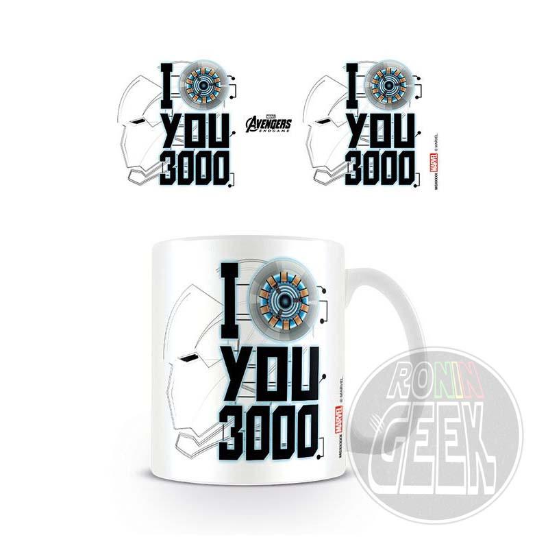 Caneca Avengers: Endgame - I Love You 3000
