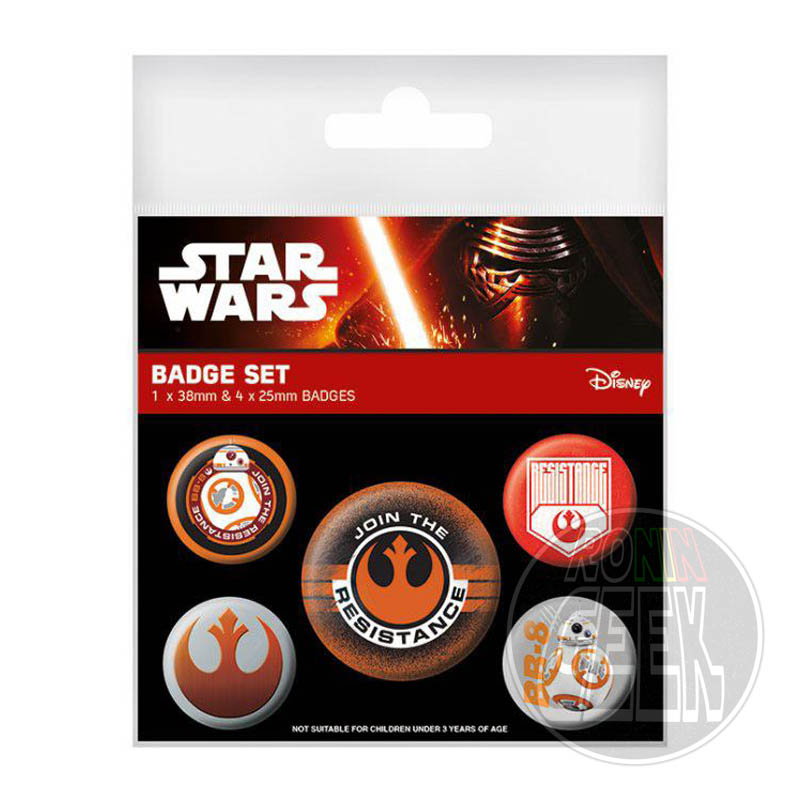 Star Wars Episode VII Pin Badges 5-Pack Join The Resistance