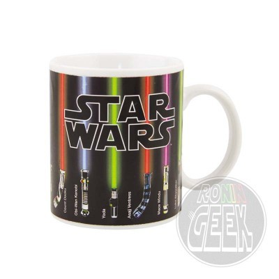 Caneca Termossensível Star Wars Lightsabers