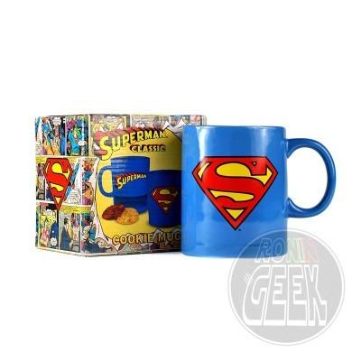 Caneca com porta bolachas - Superman