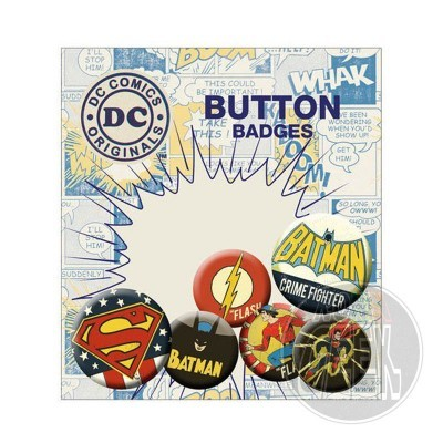 DC Comics Pin Badges 6-Pack Retro