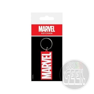 Marvel Comics Rubber Keychain Logo