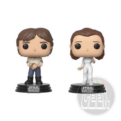 FUNKO POP! Star Wars: 2-Pack Han & Leia (Empire Strikes Back 40th Anniversary)