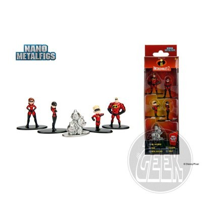 JADA Disney Nano Metalfigs Diecast Mini Figures 5-Pack Incredibles 2