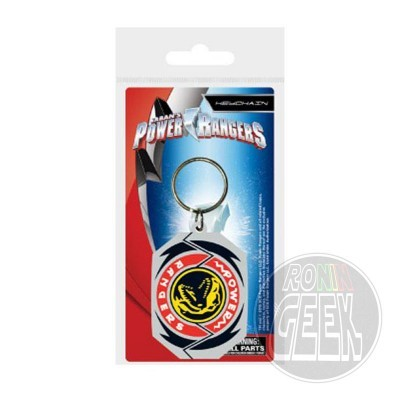 Power Rangers Rubber Keychain T-Rex Morphin Badge