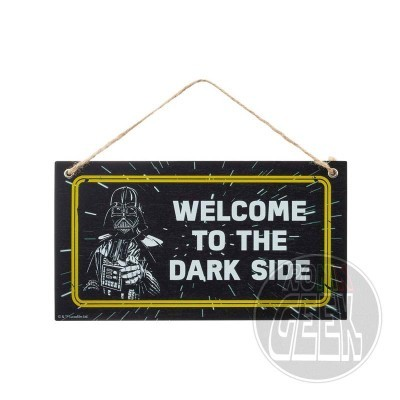 Placa Star Wars - Welcome To The Dark Side