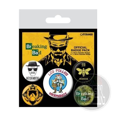 Breaking Bad Pin Badges 5-Pack Los Pollos Hermanos