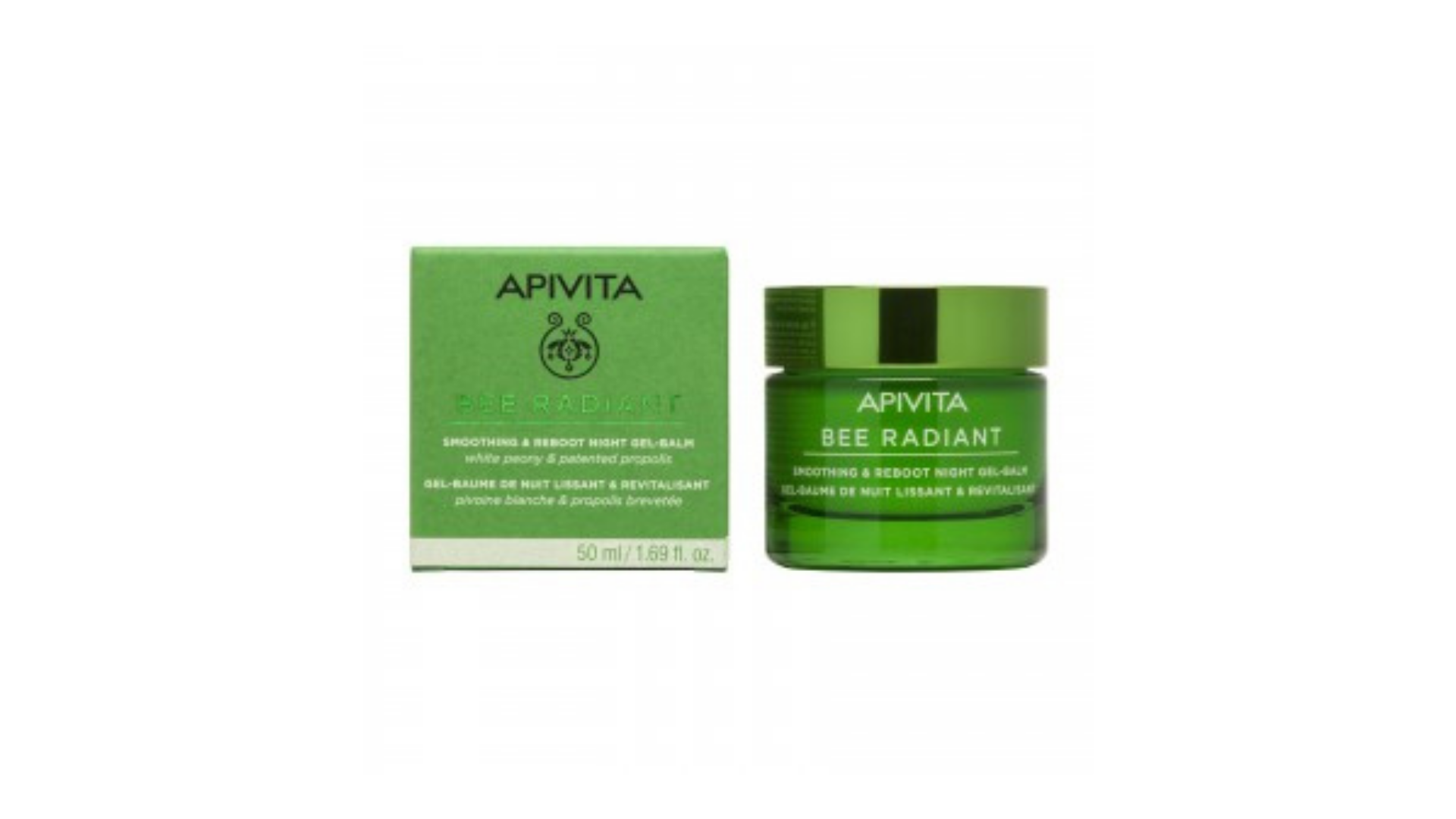 Apivita | Bee Radiant Gel-bálsamo de Noite Suavizante & Revitalizante 50ml
