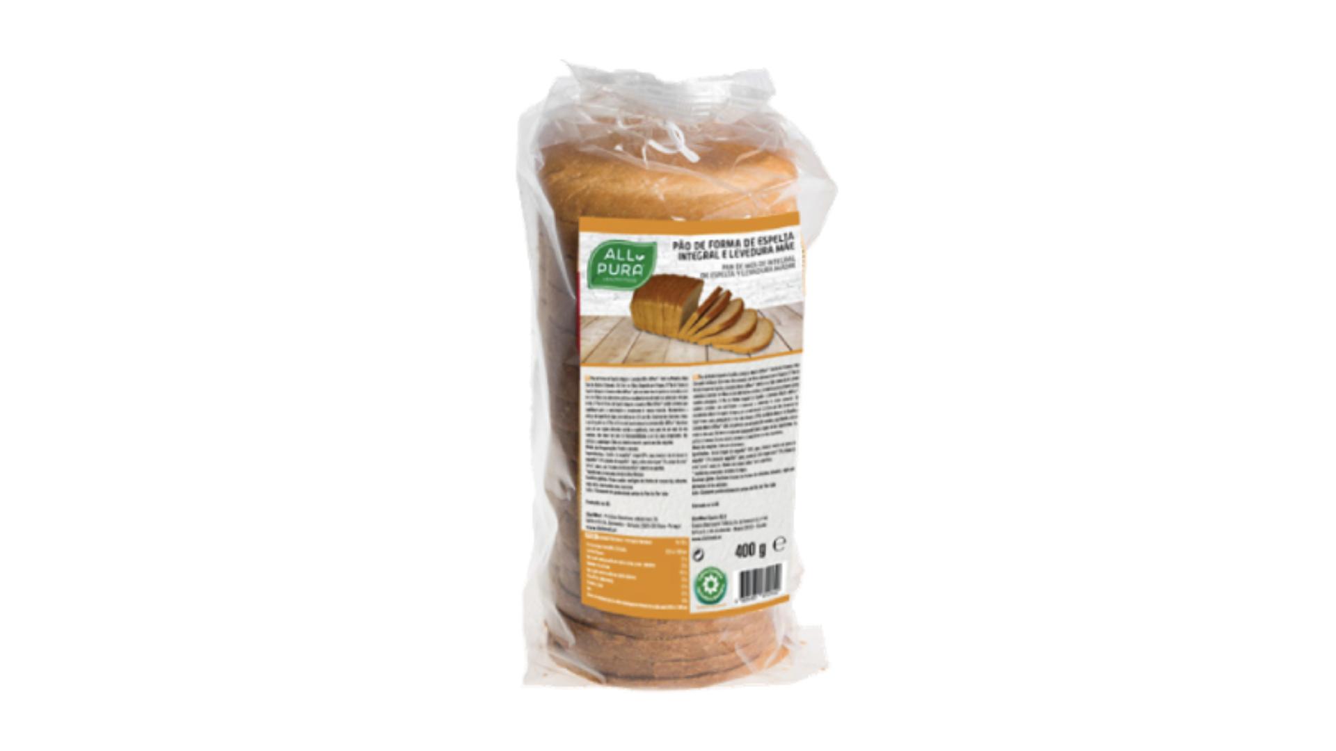 ALLPURA | Pão de Forma Espelta Integral e Levedura Mãe