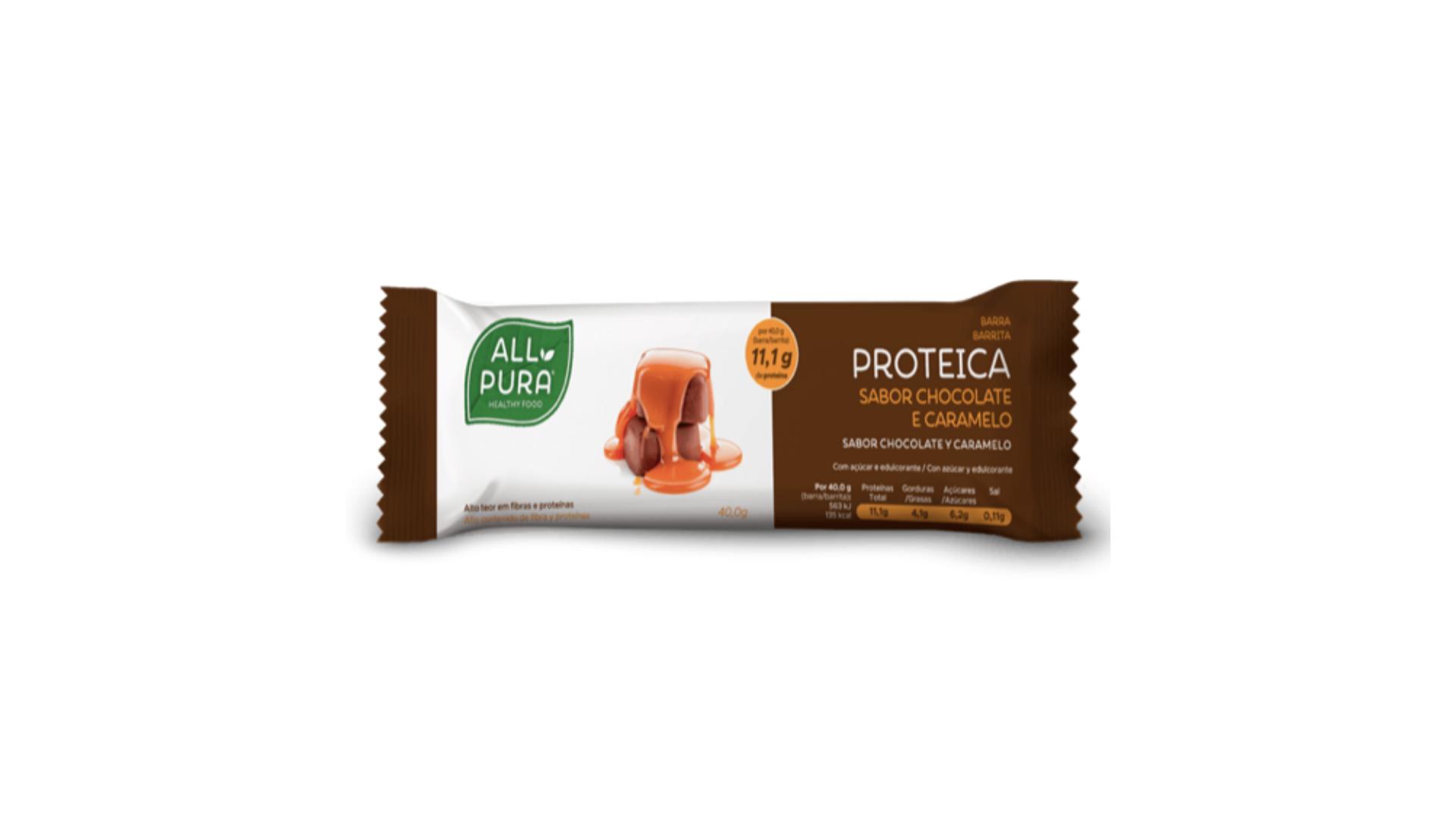 ALLPURA   Barra Proteica Chocolate e Caramelo