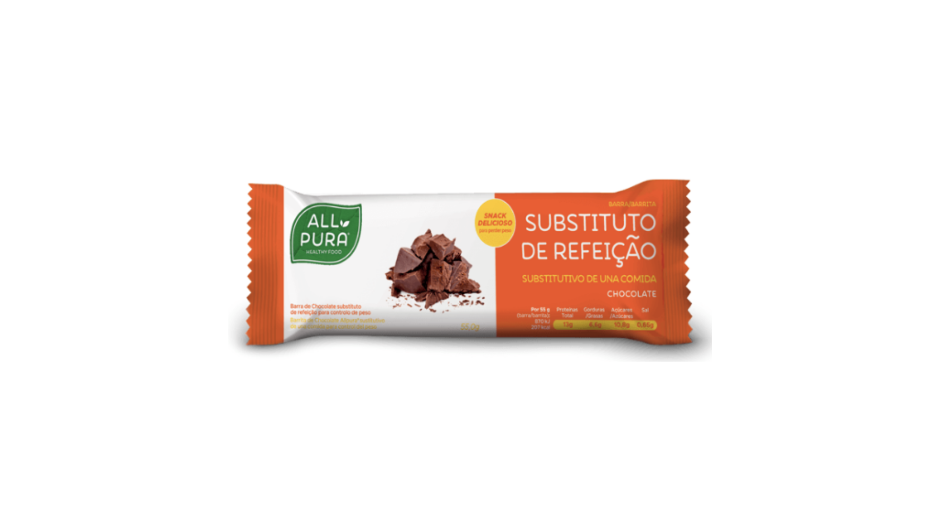 ALLPURA | Barra Substituta de Refeição Chocolate